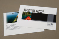 Kayak Rental Postcard Template