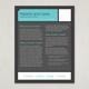 Flat Design Datasheet Template