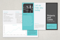 Flat Design Brochure Template