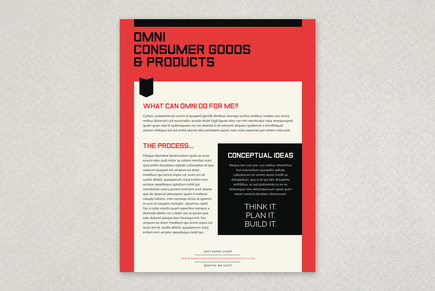 Unique Bold Business Datasheet Template
