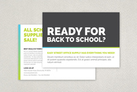 Bold Back to School Postcard Template