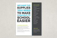 Bold Back to School Flyer Template