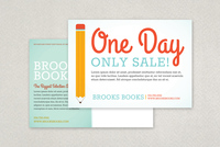 Back to School Sale Postcard Template