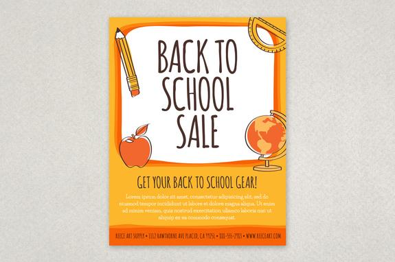 Fun Back To School Flyer Template Inkd
