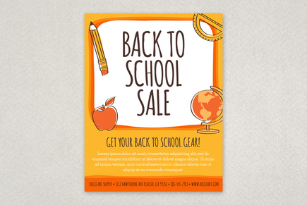 Fun Back To School Flyer Template  Inkd