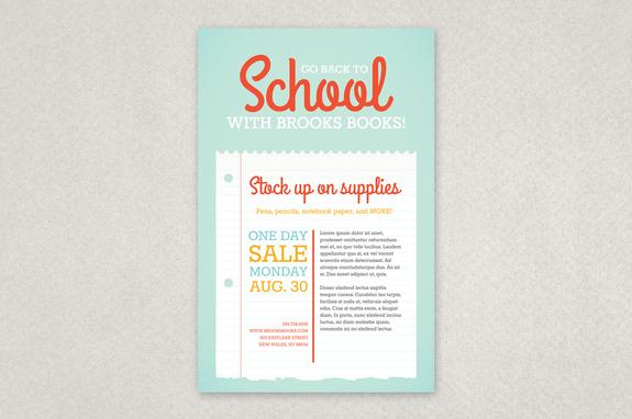 back to school sale poster template inkd