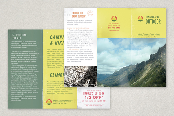 Sports  Outdoor Store Brochure Template  Inkd