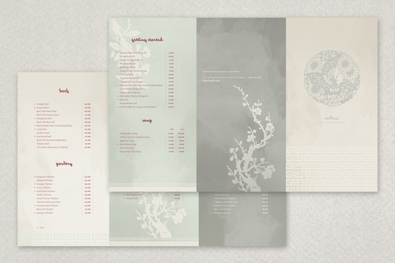 silken chinese restaurant menu template inkd