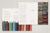 Delicate Bookstore Brochure  Template