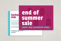 Fun Summer Sale Postcard Template