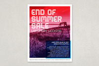End of Summer Labor Day Flyer Template