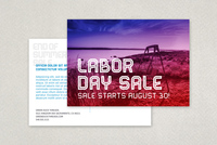 End of Summer Labor Day Postcard Template