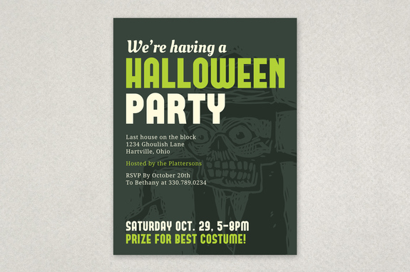 Halloween Party Invite Flyer Template | Inkd