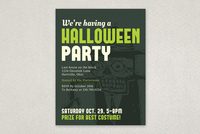 Halloween Party Invite Flyer Template