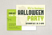 Halloween Party Invite Postcard Template