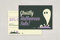 Fun Halloween Sale Postcard Template