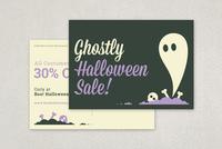 Fun Halloween Sale Postcard Template