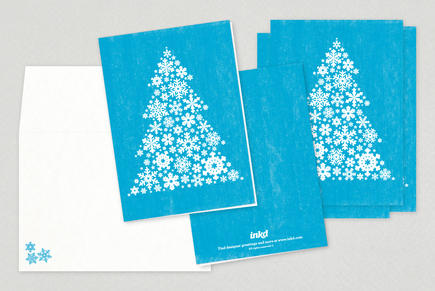 Snowflake Holiday Greeting Card Template