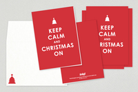 Keep Calm Christmas Card Template