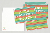 Merry Bright Holiday Card Template