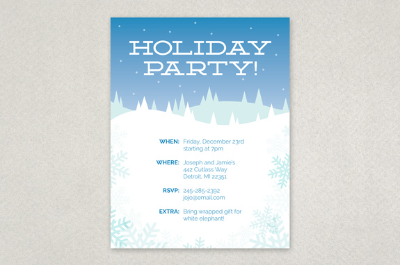 Winter Holiday Party Flyer Template  Inkd