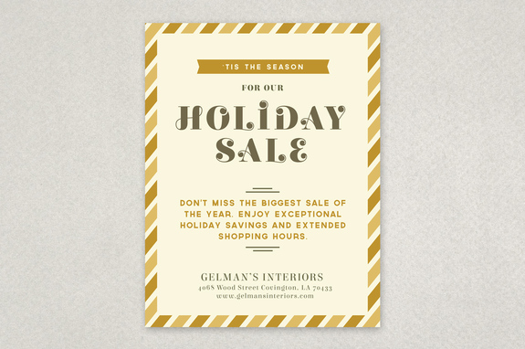 Upscale Holiday Sale Flyer Template – Holiday Flyer Template Example