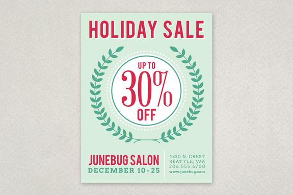 Modern Holiday Sale Flyer Template Inkd