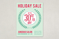 Modern Holiday Sale Flyer Template