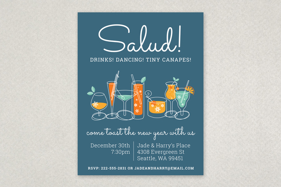 Illustrated Holiday Party Flyer Template | Inkd