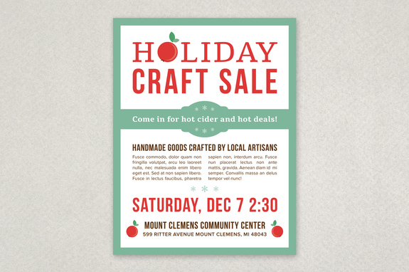 Creative Holiday Sale Flyer Template Inkd