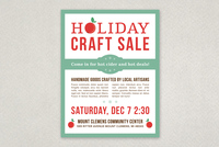 Creative Holiday Sale Flyer Template