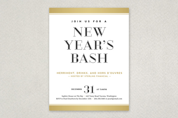 New Year\'s Eve Flyer Template | Inkd