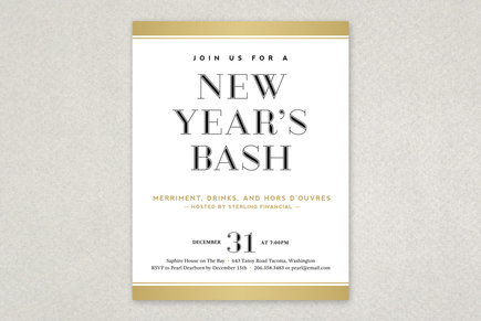 New Year'S Eve Flyer Template | Inkd