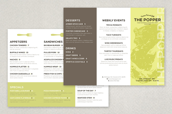 Modern Restaurant Brochure Template
