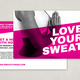 Hot Yoga Postcard Template