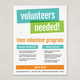Bright Bold Volunteer Flyer Template