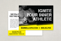 Edgy Sports Fitness Postcard Template