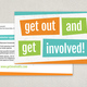 Bright Bold Volunteer Postcard Template