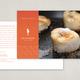 Seafood Restaurant Postcard Template