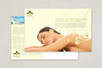 Health Spa Postcard Template