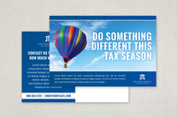 Professional Tax Preparation Postcard Template