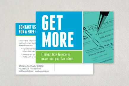 Maximum Tax Refund Postcard Template