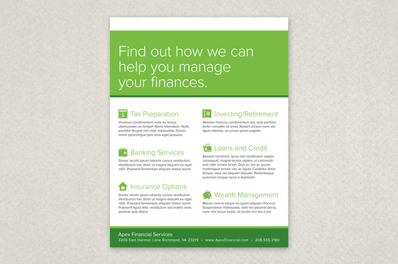 Financial Planning Services Flyer Template  Inkd