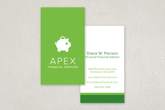 Financial planning services business card template inkd financial planning services business card template reheart Images