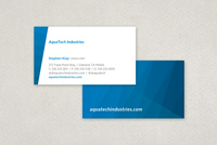 Geometric Waves Business Card Template