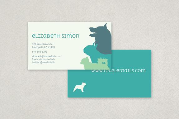 Dog silhouette business card template inkd dog silhouette business card template colourmoves
