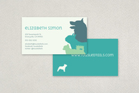 Dog Silhouette Business Card Template