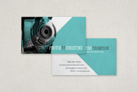 Unique Photo Business Card Template