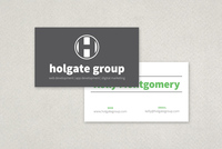 Bold Text Business Card Template