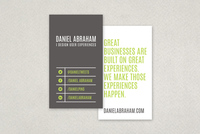 Bold Minimal Business Card Template